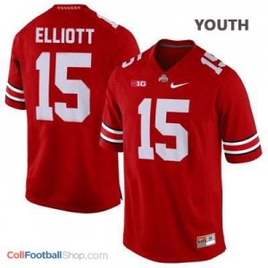 Ezekiel Elliott Ohio State Buckeyes #15 Football Jersey - Scarlet - Youth