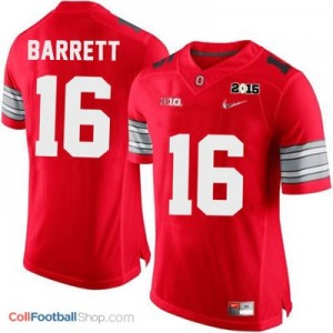 J.T. Barrett OSU #16 Diamond Quest 2015 Patch Football Jersey - Scarlet