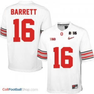 J.T. Barrett OSU #16 Diamond Quest 2015 Patch Football Jersey - White