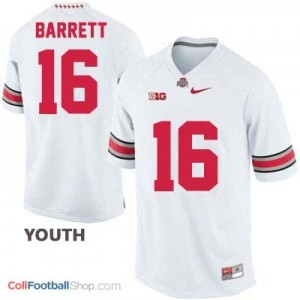 J.T. Barrett Ohio State Buckeyes #16 Football Jersey - White - Youth