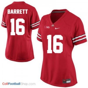 J.T. Barrett Ohio State Buckeyes #16 Women's Football Jersey - Red