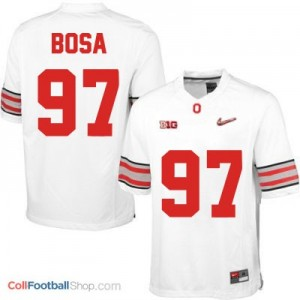 Joey Bosa OSU #97 Diamond Quest Playoff Football Jersey - White