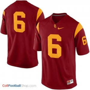 USC Trojans #6 Football Jersey - Red