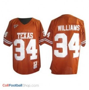 Ricky Williams Texas Longhorns #34 Football Jersey - Orange