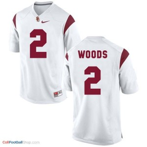 Robert Woods USC Trojans #2 Youth Football Jersey - White