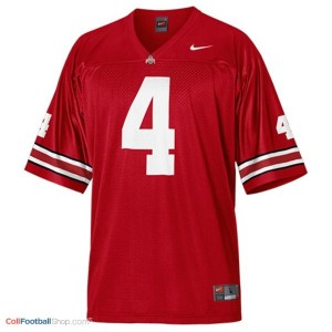 Santonio Holmes Ohio State Buckeyes #4 Football Jersey - Scarlet Red