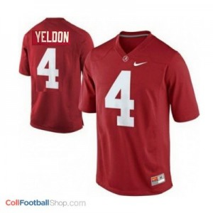 T.J. Yeldon Alabama #4 Football Jersey - Crimson Red
