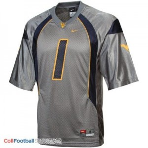 Tavon Austin West Virginia Mountaineers #1 Football Jersey - Gray