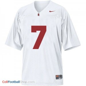 Ty Montgomery Stanford Cardinal #7 Football Jersey - White