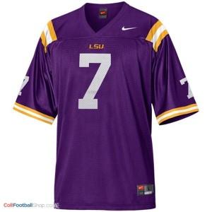Tyrann Mathieu LSU Tigers #7 Mesh Youth Football Jersey - Purple