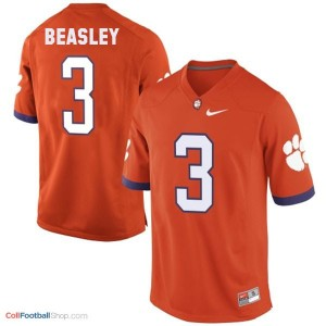 Vic Beasley Clemson Tigers #3 Football Jersey - Orange