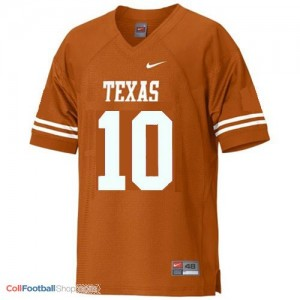 Vince Young Texas Longhorns #10 Youth Football Jersey - Orange