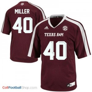 Von Miller Texas A&M Aggies #40 Youth Football Jersey - Maroon Red