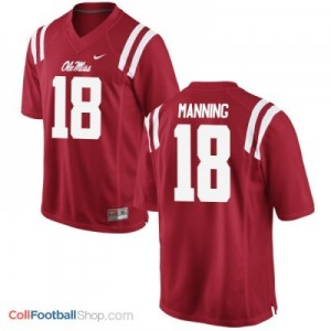 Archie Manning Ole Miss Rebels #18 Football Jersey - Red