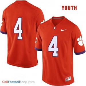Clemson Tigers #4 Football Jersey - Orange - Youth