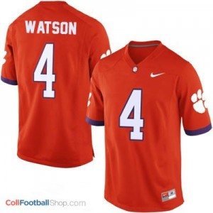 Deshaun Watson Clemson Tigers #4 Football Jersey - Orange