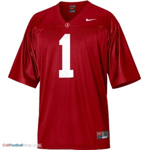 Alabama Crimson Tide Head Coach Nick Saban #1 Red Youth Football Jersey