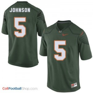 Andre Johnson Miami Hurricanes  #5 Football Jersey - Green