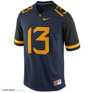Andrew Buie West Virginia Mountaineers #13 Youth Football Jersey - Blue