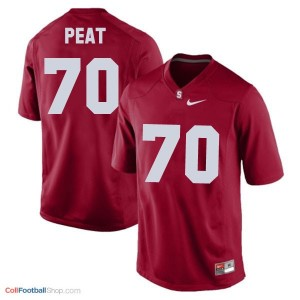 Andrus Peat Stanford Cardinal #70 Football Jersey - Red