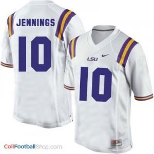 Anthony Jennings LSU Tigers #10 Football Jersey - White