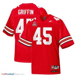 Archie Griffin Ohio State Buckeyes #45 Youth Football Jersey - Scarlet Red