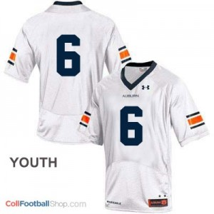 Auburn Tigers #6 Football Jersey - White - Youth