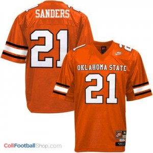 Barry Sanders Oklahoma State Cowboys #21 Youth Football Jersey - Orange