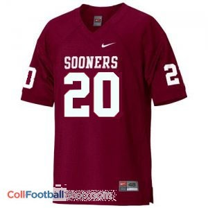 Billy Sims Oklahoma Sooners #20 Football Jersey - Crimson Red