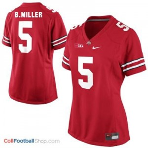 Braxton Miller Ohio State #5 Women Football Jersey - Scarlet Red