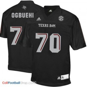 Cedric Ogbuehi Texas A&M Aggies #70 Football Jersey - Black
