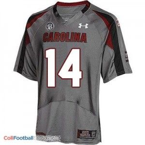 Connor Shaw South Carolina Gamecocks  #14 Football Jersey - Gray