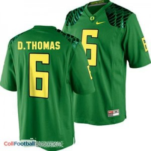 De'Anthony Thomas Oregon Ducks #6 Football Jersey - Apple Green