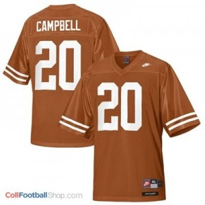 Earl Campbell Texas Longhorns #20 Youth Football Jersey - Orange