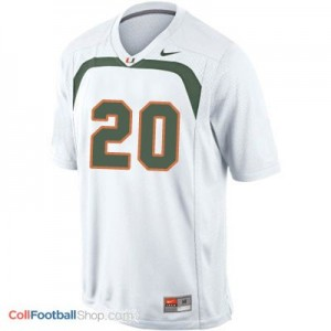 Ed Reed Miami Hurricanes #20 Football Jersey - White