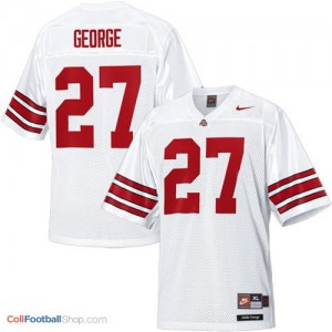 Eddie George Ohio State Buckeyes #27 Youth Football Jersey - White