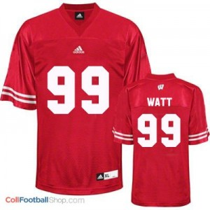 J.J. Watt Wisconsin Badgers #99 Youth Football Jersey - Red