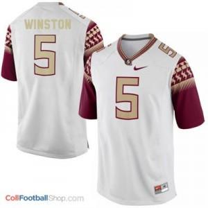 Jameis Winston 2014 Florida State Seminoles (FSU)  #5 Football Jersey - White
