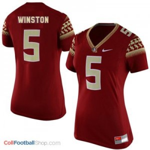 Jameis Winston Florida State #5 Women Football Jersey - Garnet Red