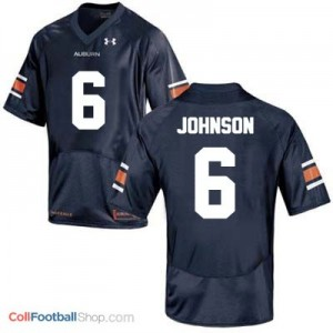 Jeremy Johnson Auburn Tigers #6 Football Jersey - Blue