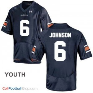 Jeremy Johnson Auburn Tigers #6 Football Jersey - Blue - Youth
