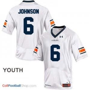 Jeremy Johnson Auburn Tigers #6 Football Jersey - White - Youth