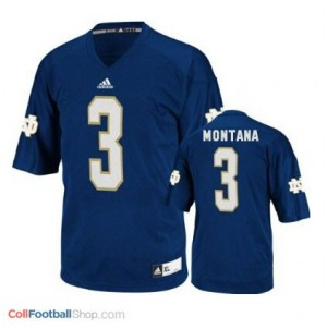 Joe Montana Notre Dame Fighting Irish #3 Football Jersey - Navy Blue
