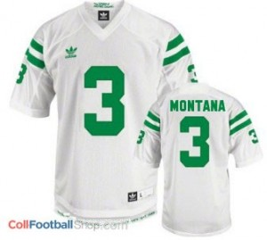 Joe Montana Notre Dame Fighting Irish #3 Football Jersey - White