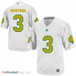 Joe Montana Notre Dame Fighting Irish #3 Shamrock Series Youth Football Jersey - White