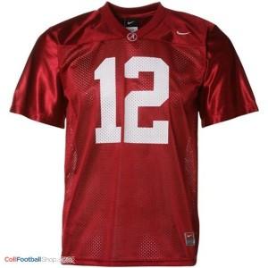 Joe Namath Alabama #12 Mesh Football Jersey - Crimson Red