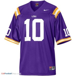 Joseph Addai LSU Tigers #10 Mesh Youth Football Jersey - Purple
