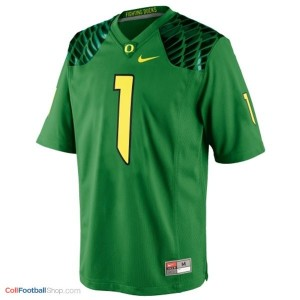 Josh Huff Oregon Ducks #1 Youth Football Jersey - Apple Green