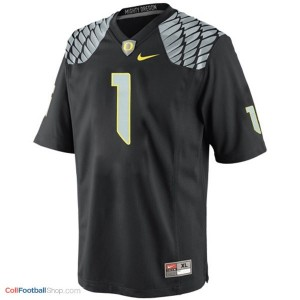Josh Huff Oregon Ducks #1 Youth Football Jersey - Black