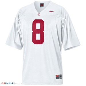 Julio Jones Alabama #8 Football Jersey - White